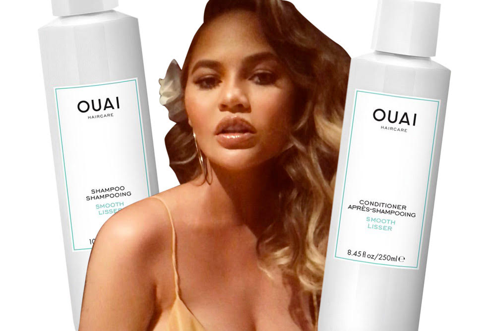 chrissy teigen favorite beauty product ouai shampo and conditioner