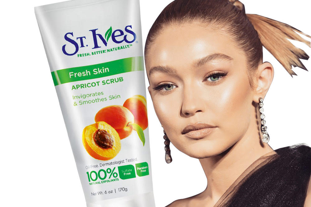 gigi hadid favorite beauty product st. ives face scrub