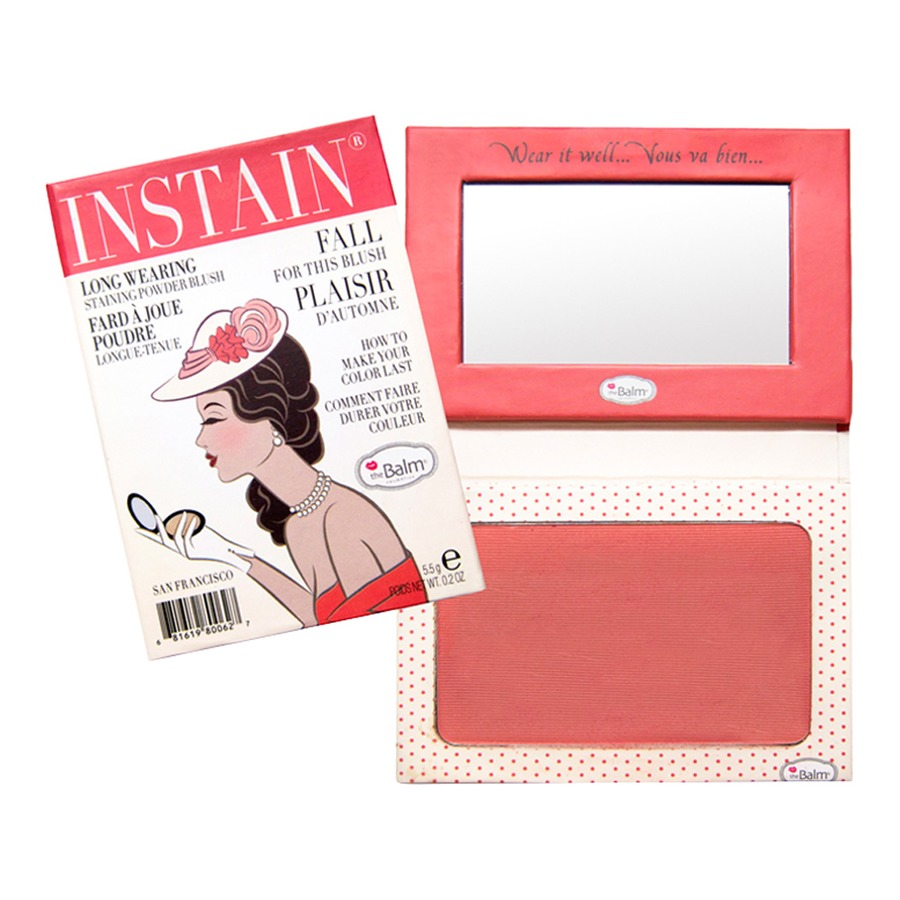 The Balm In Stain Blush warna Swiss Dot