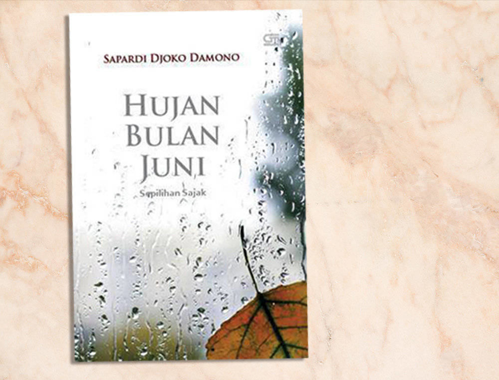 novel romantis Hujan Bulan Juni by Sapardi Djoko Damono