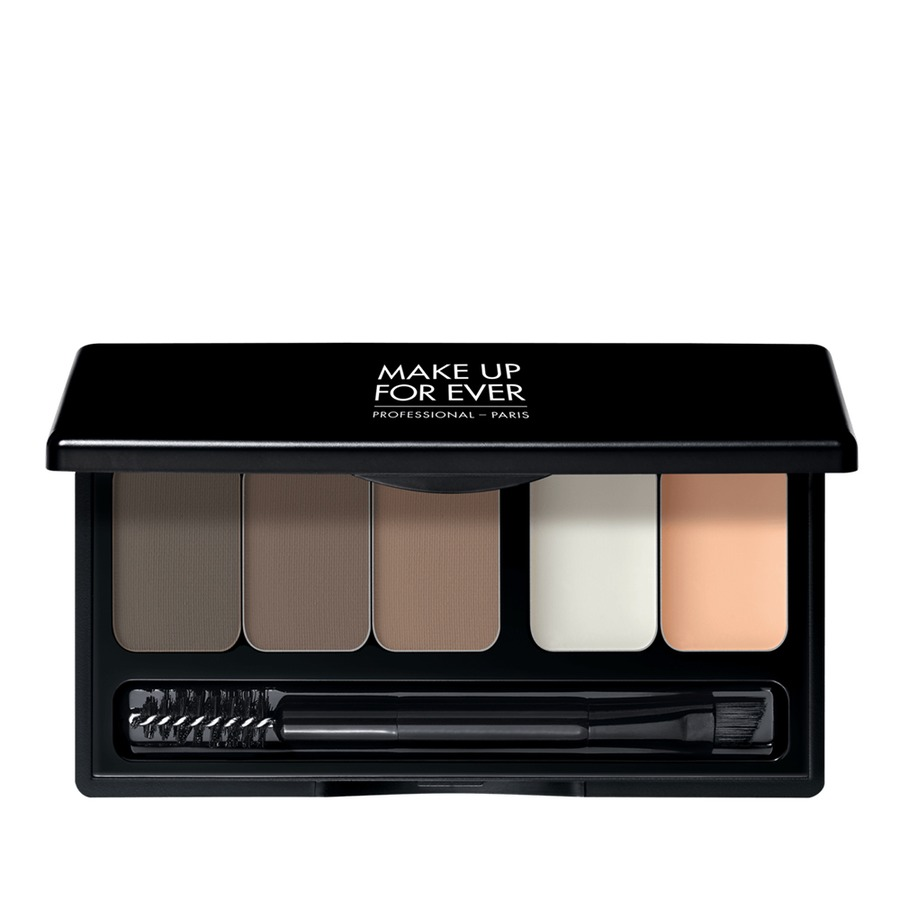 cara membentuk alis dengan Make Up For Ever Pro Sculpting Brow Palette