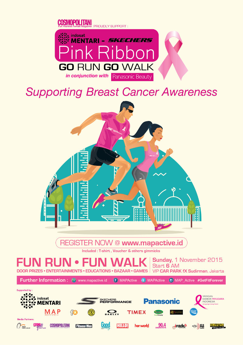Pink Ribbon Go Run Go Walk