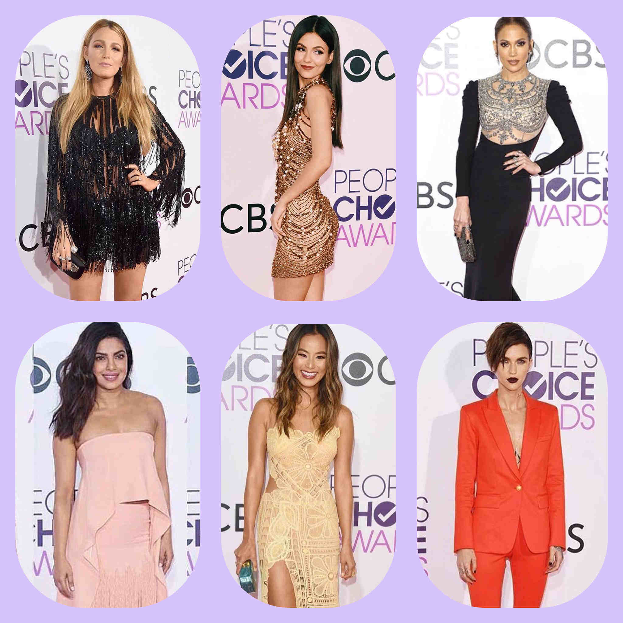 6 Seleb Berbusana Terbaik di People's Choice Award 2017