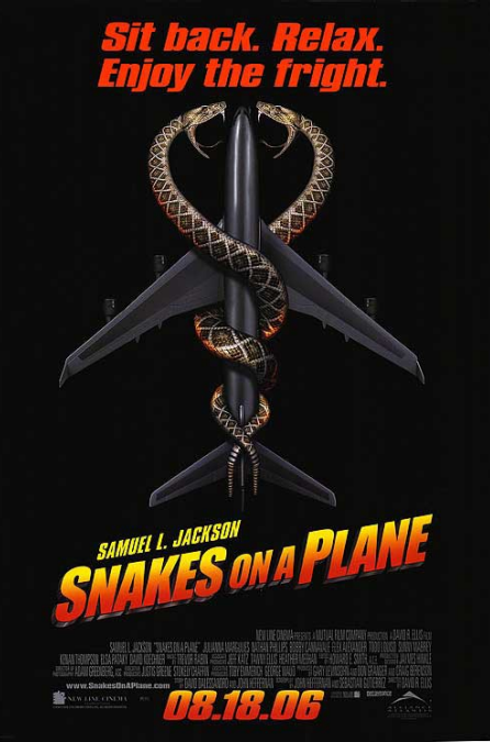 Poster film Snakes on a Plane