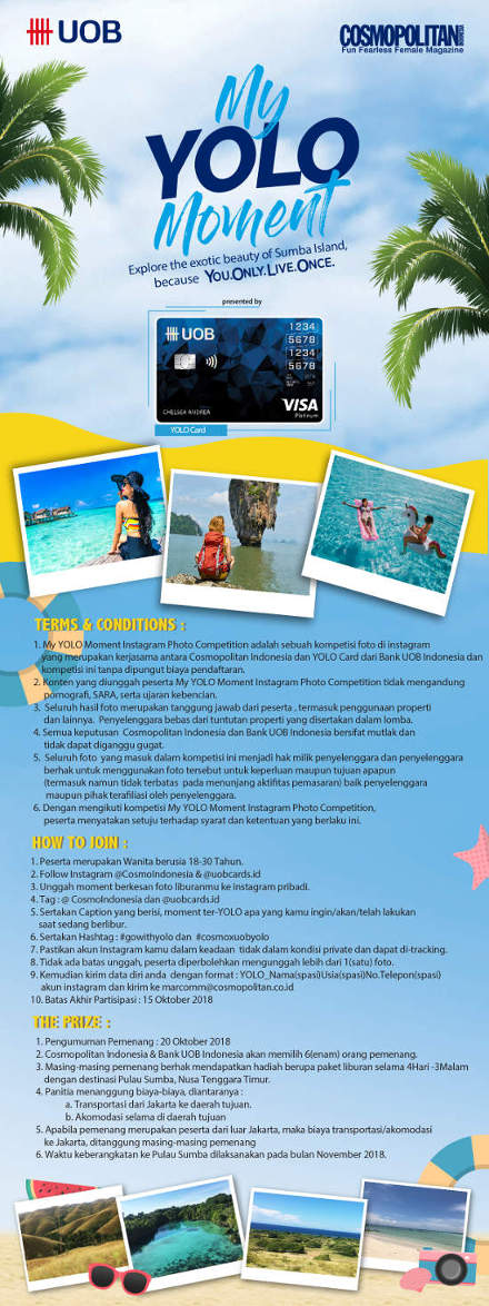 Cosmopolitan Sweet Escape Goes to Sumba with UOB YOLO