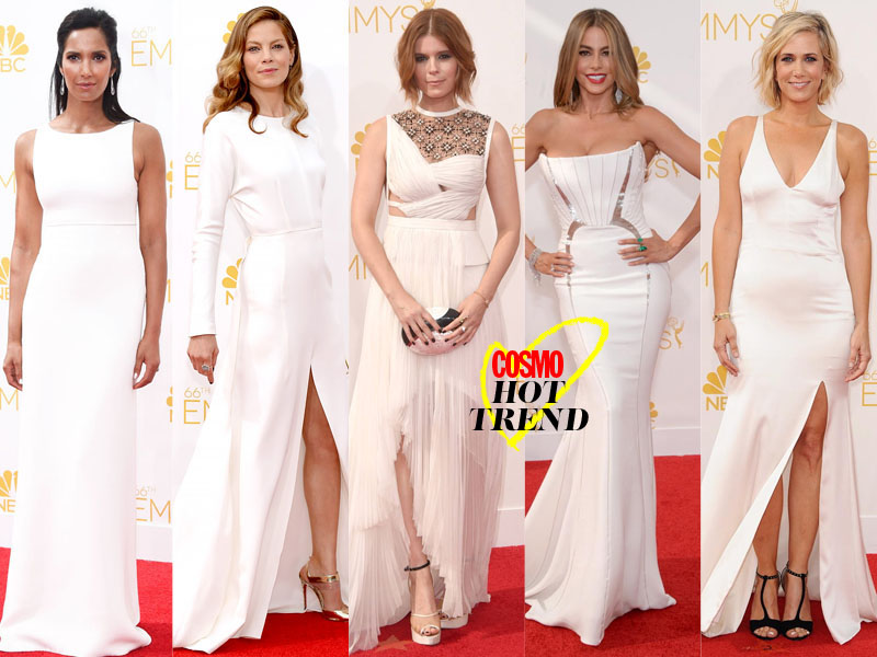 All The White Dresses at Emmy 2014