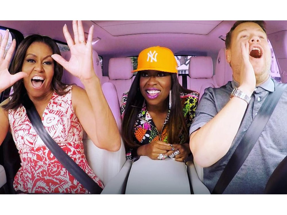 Serunya Carpool Karaoke Bareng Michelle Obama