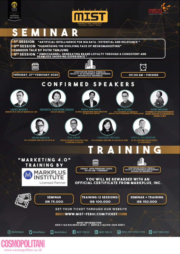 The 16th Mist Marketing Insight  Seminar dan Training