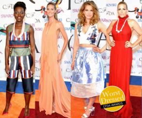 WORST DRESSED CFDA AWARDS 2014