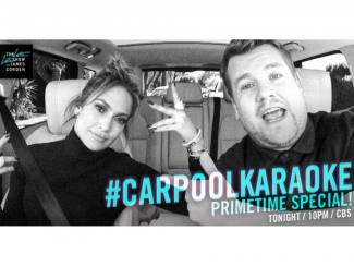 Usilnya J.Lo dan James Corden di Carpool Karaoke
