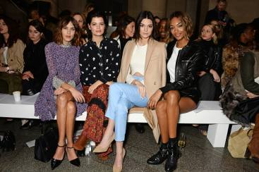 Jejeran Top Model di Front Row Topshop, London Fashion Week A/W 2015