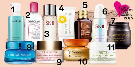 Cosmo Reader's Choice Awards 2018: Best Skin Care