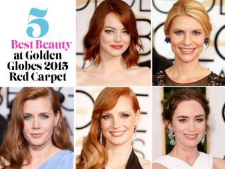 5 Best Beauty at Golden Globes 2015 Red Carpet