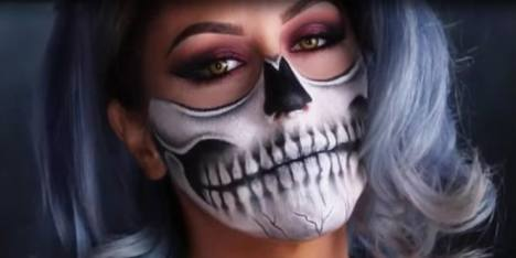 Tutorial Makeup Skeleton Skull Untuk Ide Halloween
