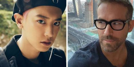 So Cute! Chanyeol EXO Bertemu Idolanya, Ryan Reynolds