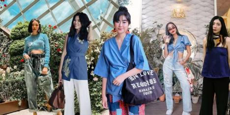 Mix and Match Kombinasi Baju Warna Biru Ala Influencer